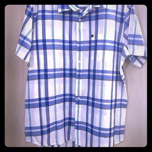 Quicksilver Men's button up striped shirt